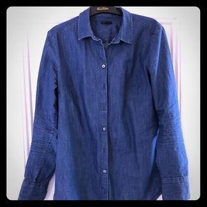 GUC ann taylor chambray shirt